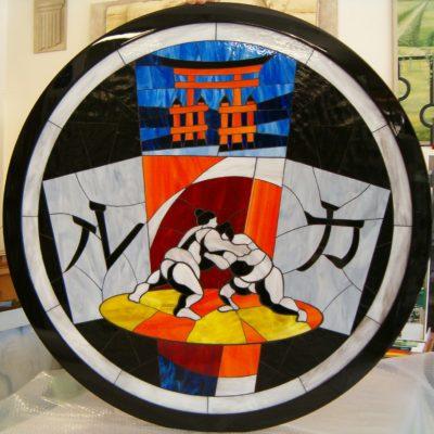 4quadro in mosaico di vetro