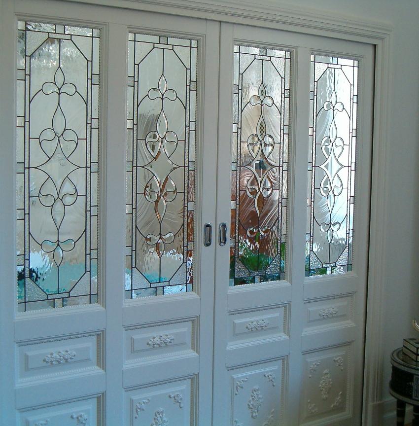 Porta A Due Ante Con Vetro.Vetrate D Arte Doors And Over Door Glass Panels